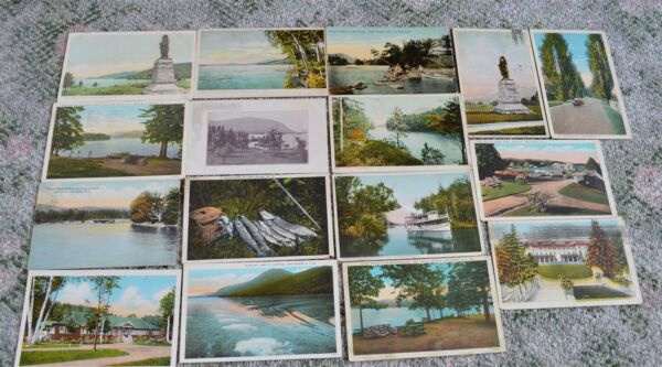 16 1905-1920's era Lake George New York Postcards Early Private Mailing Card