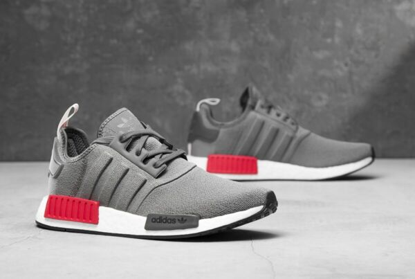 adidas Originals NMD R1 Shoes Men's (size 10 - 12) Grey / Red BD7730 Boost