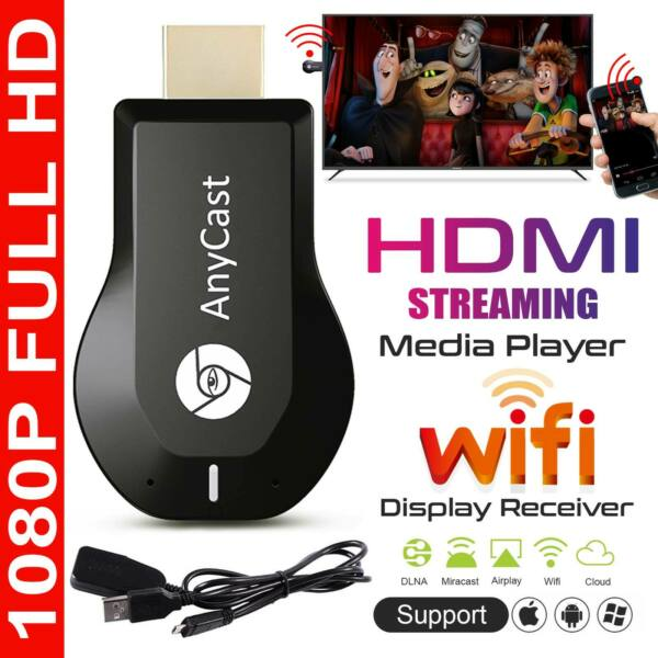 AnyCast M2 Plus WiFi Display Dongle HDMI Media Player Streamer TV Cast Stick