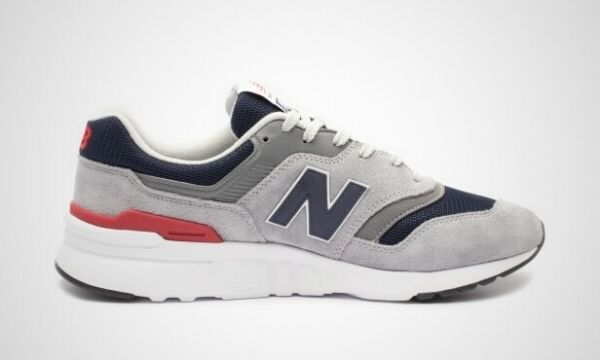 New Balance 997 Grey Navy Red Lifestyle Sneakers Mens gym new running CM997HCJ