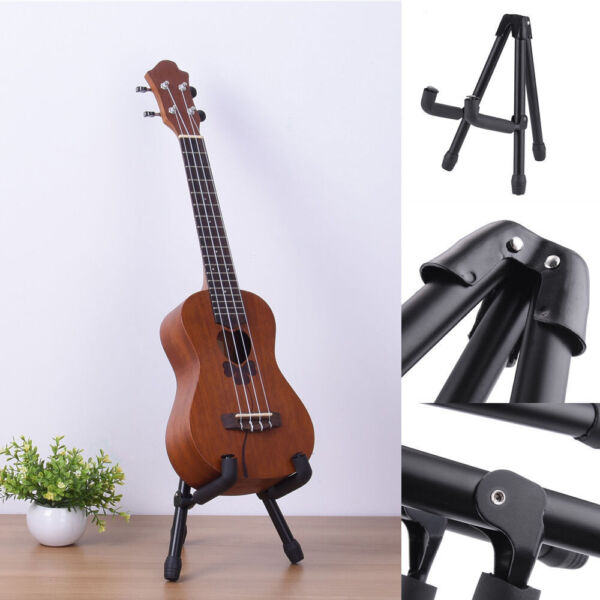 Guitar Stand for AcousticElectric Guitars  Violin Ukulele Folding Rack Holder