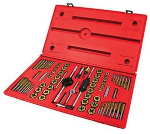 ATD Tools 276 Machine Screw frac & Metric Tap & Die Set 76 pc.