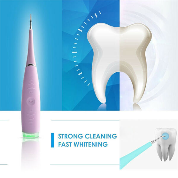 Portable Electric Sonic Dental Calculus Remover Scaler Tooth Stains Tool TE