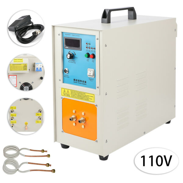 30-100 KHz 15KW High Frequency Induction Heater Furnace 2200 ℃ (3992 ℉) 110V
