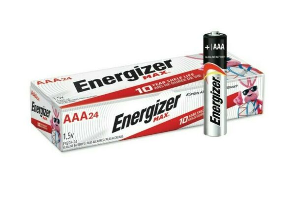 Energizer Max E92 VP AAA 1.5V Alkaline Button Top Batteries 24 pack 12 2029 Exp. $13.39