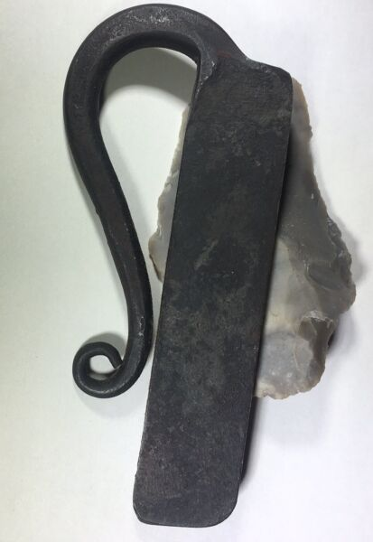 Large hand forged flint and steel striker ROMAN SLED  ENGLISH MONKEY TAIL MOAB $17.50
