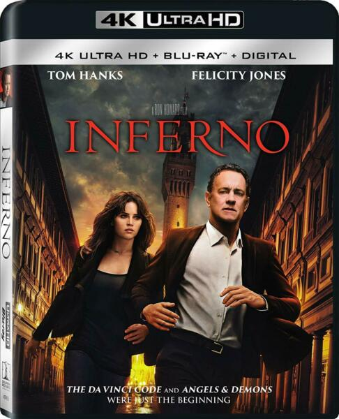 Inferno (4K Ultra HD Blu-ray) Disk Tom Hanks NEW Factory Sealed Free Shipping