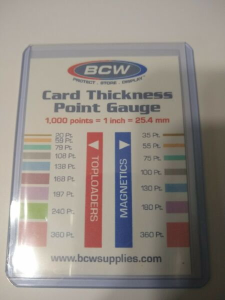 Trading Card Thickness Point Gauge FREE SHIPPING
