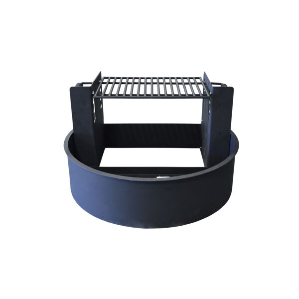 "Titan Great Outdoors 31"" Fire Ring with Adjustable Grate Powder Coated"