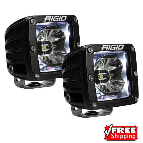 Rigid Industries D Series Radiance Pods with White Back LED Light Pair 20200