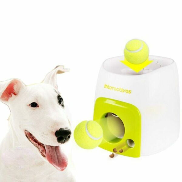 Interactive Fetch Ball Dog Toys Pet Automatic Train Throwing Machine Tennis