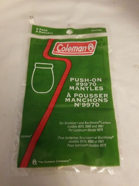 Coleman 9970 Mantles Push on Xcursion amp; Backhome Lantern 9981 9980 9970 2 Pack $9.95