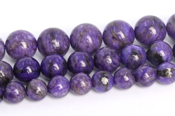 Natural Deep Purple Charoite Beads Grade A Round Loose Beads 4 6 8 10MM $11.95