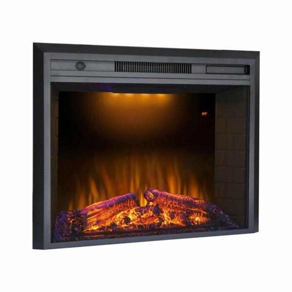 Valuxhome 36 Inches Electric Recessed Fireplace Heater Black - New