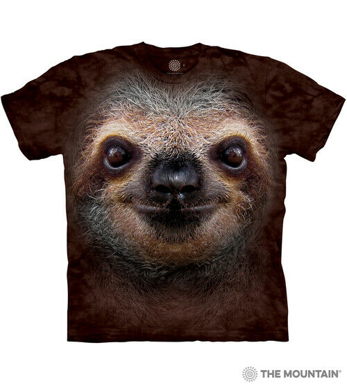 The Mountain 100% Cotton Adult T Shirt Sloth Face Tee Sizes S M L XL 3XL NWT $20.60