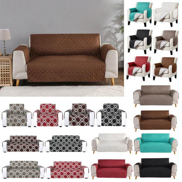 Waterproof Quilted Sofa Cover Couch Cushion Pet Slipcover Furniture Protector $13.99