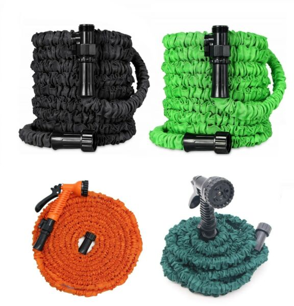 Latest Deluxe Expandable Flexible Garden Hose + Spray Nozzle for 5 50 75 100ft