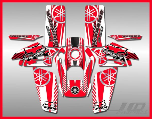 YAMAHA WARRIOR full graphics kit DECALS STICKERS .THICK AND HIGH GLOSS $85.00
