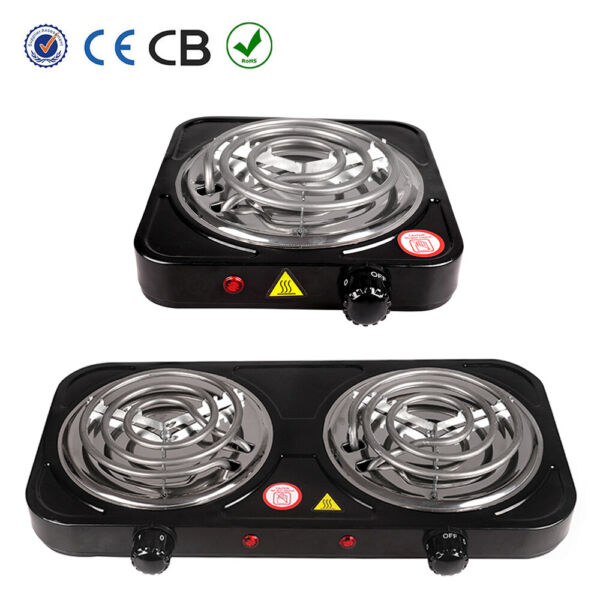 Electric Double  Single Burner Portable Hot Plate Countertop Stove Cooker 110V