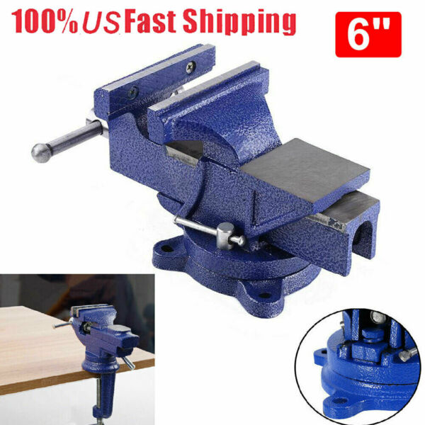 1Pcs 6 inch 12KG Heavy Duty Engineers Vice Swivel Base Clamp Jaw Work Bench Top