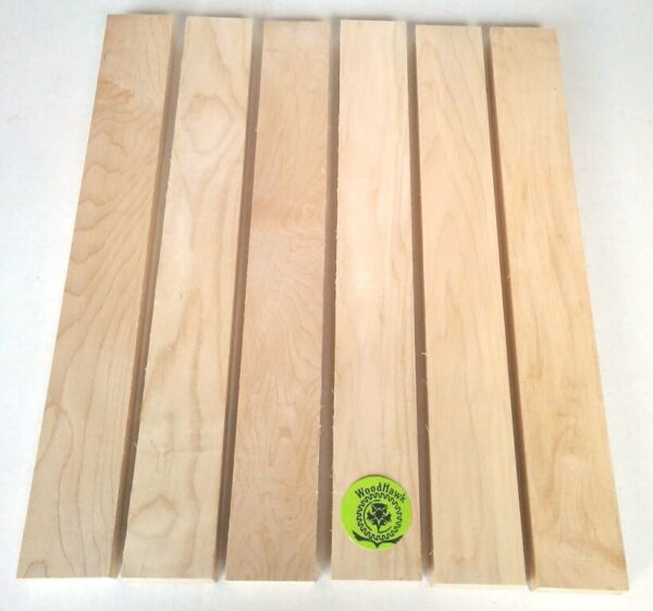 "34"" x 2"" x 16"" HARD MAPLE Hardwood Lumber made by Wood-Hawk Pack of 6 or 10"