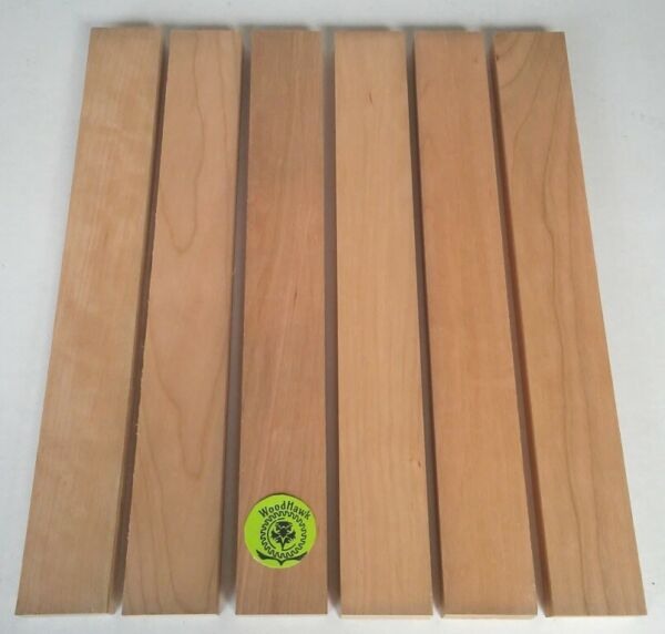 """3 4"""" x 2"""" x 16"""" CHERRY Wood Cutting Lumber Boards Pack of 6 or 10 Kiln Dry $22.00"""