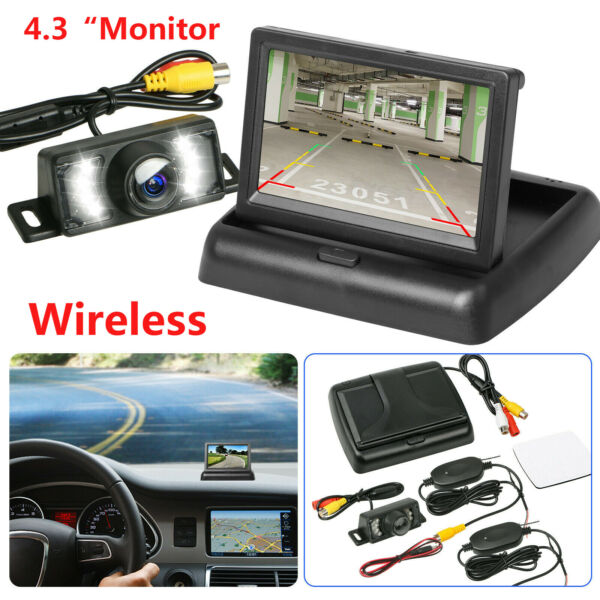 Wireless Backup Camera 4.3quot; Monitor Kit Rear View System Night Vision Waterproof