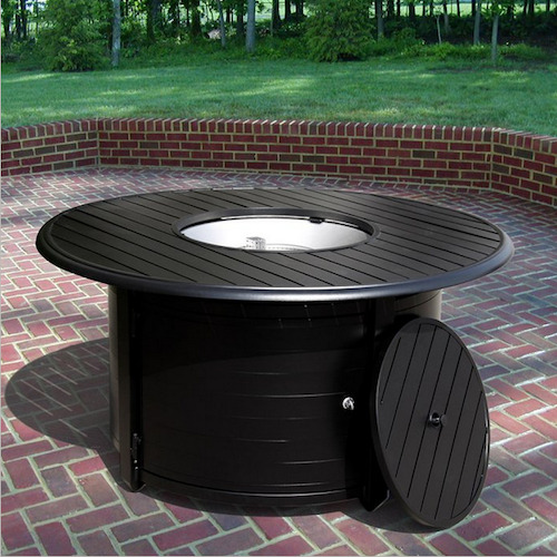 Outdoor Fire Pit Patio Deck Garden Backyard Propane Heater Round Table Fireplace