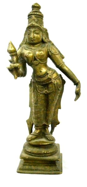 Brass Bhudevi Goddess Statue Vintage Figurine Decorative Idol Sculpture