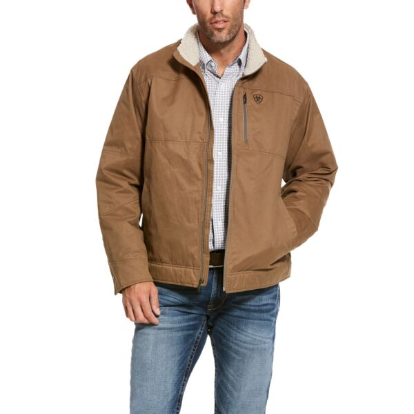 Ariat® Men#x27;s Grizzly Cub Brown Concealed Carry Canvas Jacket 10028399
