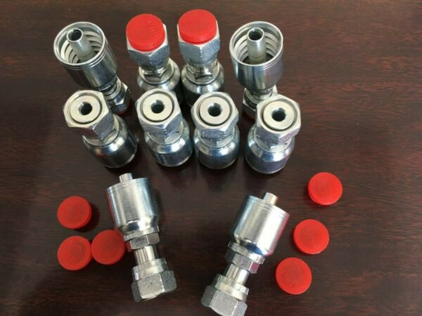 1JS43 6-6 AFTERMARKET HYDRAULIC HOSE FITTINGS 38 FLAT FACE SEAL  ( 10 PK