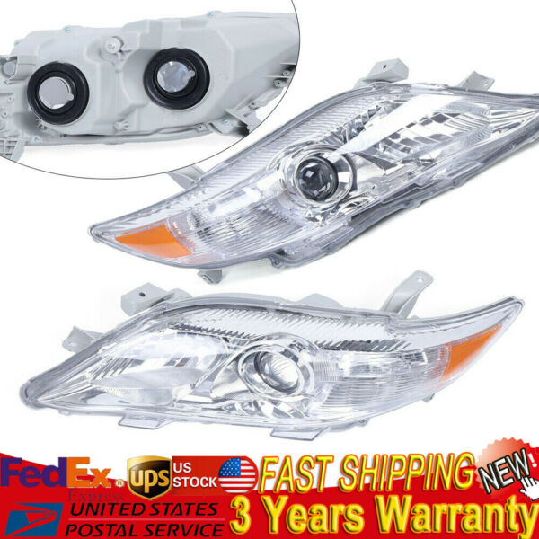 Headlights Assembly for 2010-2011 Toyota Camry Projector Headlamps Left+Right