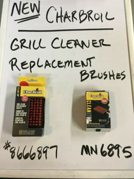 NEW CHARBROIL GRILL BRUSH REPLACEMENTS 2 STYLES YOU GET BOTH