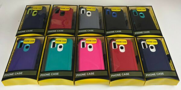 For Samsung Galaxy A20 Case Armor Stand w Clip fits CoverScreen