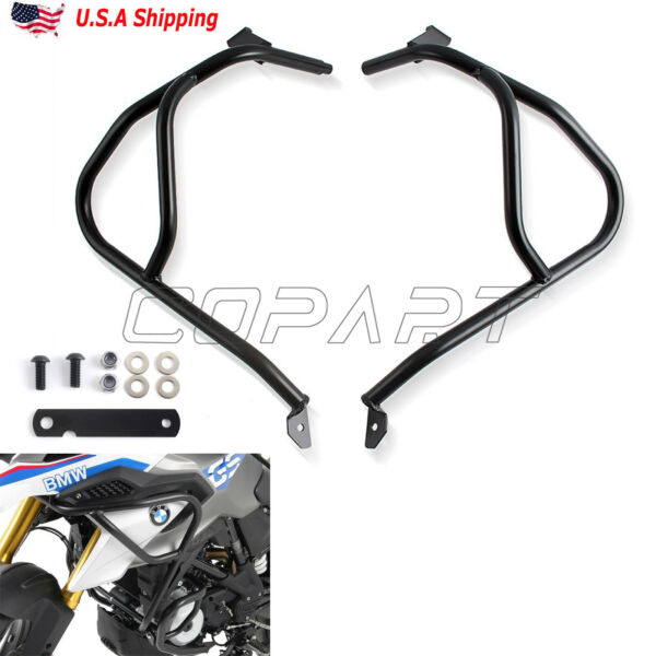 Upper Engine Tank Guard Crash Bars Protector For BMW G310GS 2018 2019 US STOCK