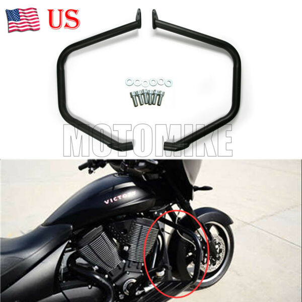 Engine Guard Side Crash Bar Black Protective For Victory Cross Country Magnum US