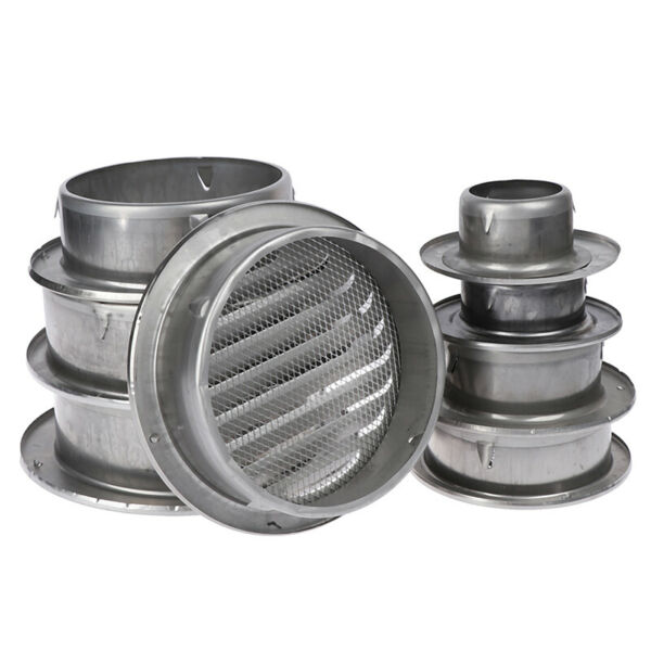 Stainless Steel Exterior Wall Air Vent Grille Round Ducting Ventilation GrillTR