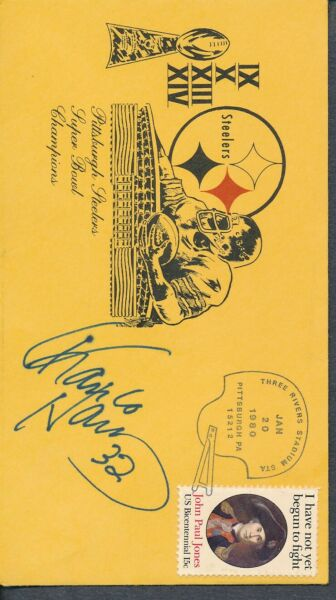 Franco Harris Signed First Day Cover Autograph Auto PSADNA AF92679