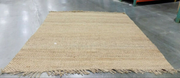 NATURAL 9#x27; X 9#x27; Square Loose Threads Rug Reduced price 1172561501 NF733A 9SQ