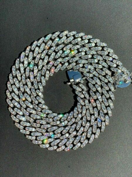 Men#x27;s Miami Cuban Link Chain Diamond Real Stainless Steel 18quot; Choker 30quot; ICED $110.39