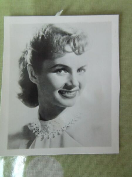 6x5cms small VINTAGE REAL PHOTO DEBBIE REYNOLDS 1950s actress film star