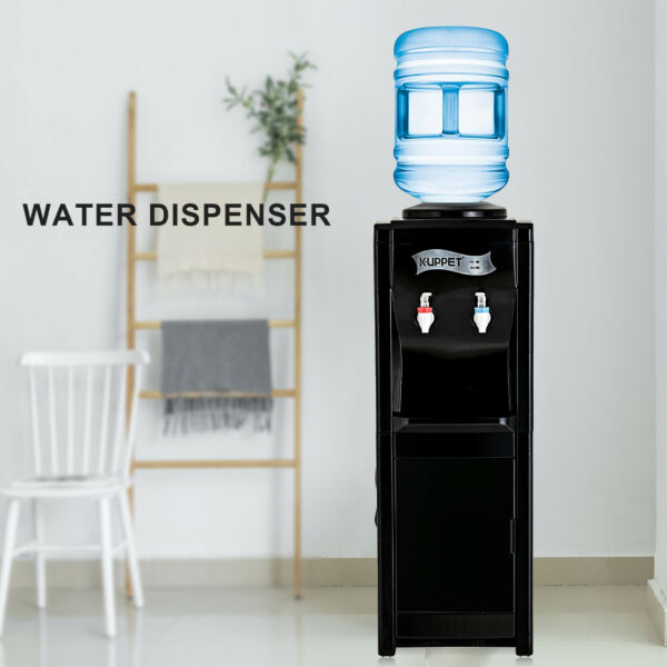 5 Gallon HotCold Top Loading Electric Freestanding Water Cooler Dispenser Black