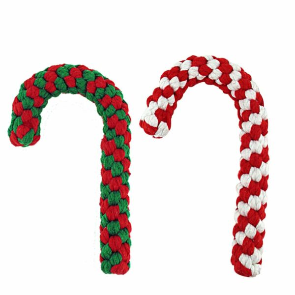 Christmas Dog Chew Rope Toy 100% Cotton Non Toxic Set of 2 Free shipping $11.99