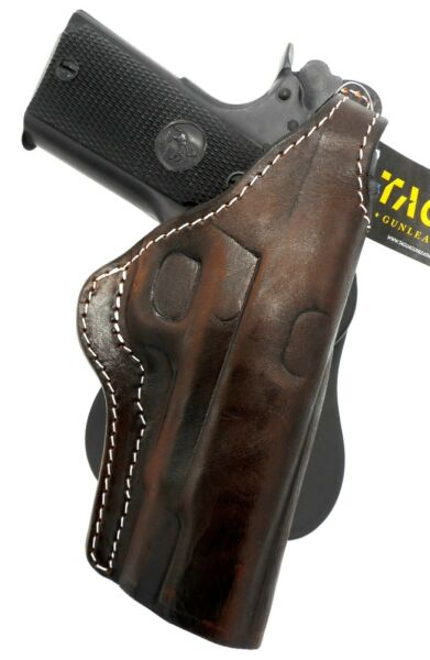 TAGUA PREMIUM Brown Leather COCKED LOCKED Thumb Break Paddle Holster for 5quot; 1911