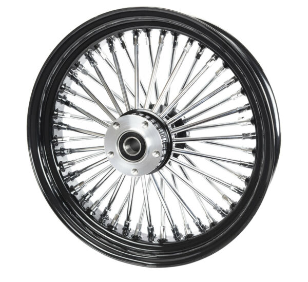 Black 16 x 3.5 46 Fat King Spoke Rear Wheel Rim Harley Touring Dyna Softail XL $259.99