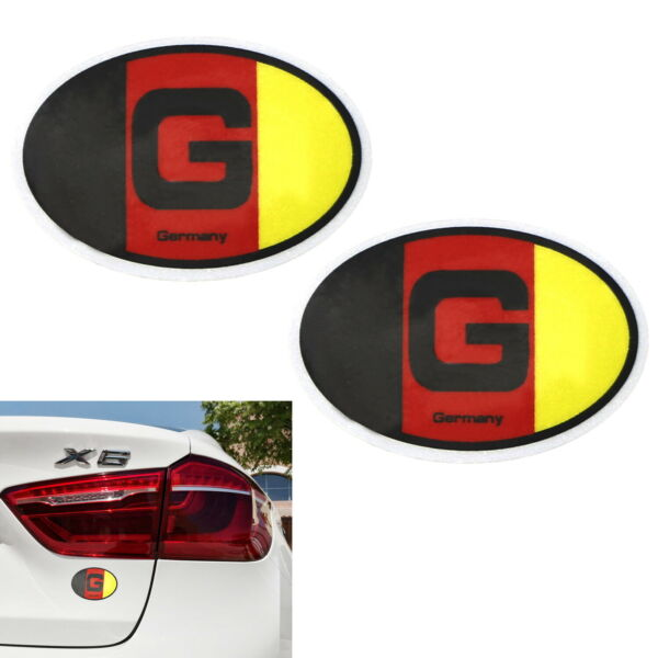 Pair 3.75quot; 95mm German Flag Stickers For European Car Windshield Bumper Fender