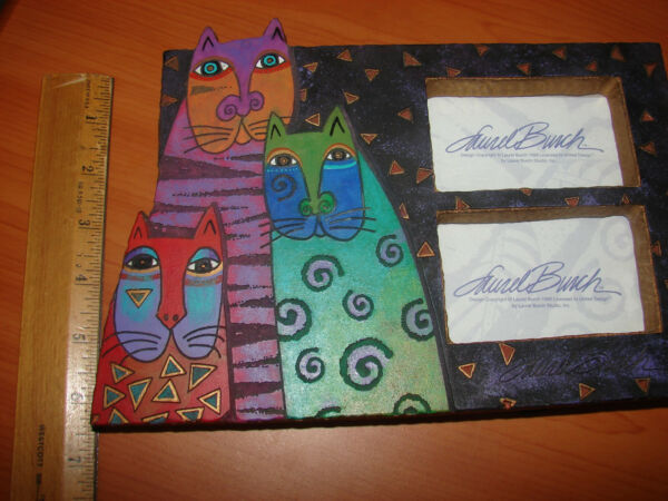 1999 Laurel BURCH Mystical Kitty CAT Double Picture Frame 7