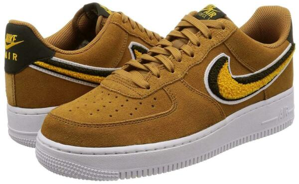 NIKE AIR FORCE 1 '07 LV8 SUEDE MUTED BRONZE YELLOW OCHRE 823511 204 US MENS