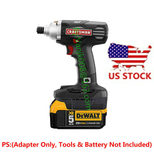1x DEWALT 20V Slider Li-ion Batteries To Craftsman 19.2V Cordless Tools Adapter