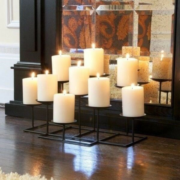 Fireplace Candle Holders Floor Holder Mantel Candelabra Pillar Candles Tabletop